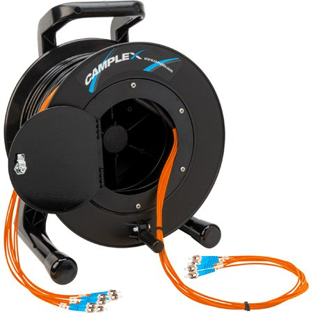 Camplex 8-Channel ST Multimode OM1 Fiber Optic Tactical Reel - 250 Foot