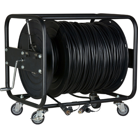 Camplex LEMO FUW-PUW-M Furukawa Outside Broadcast SMPTE 304M Fiber Camera Cable on Reel-1000 Foot