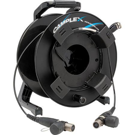 Camplex Tactical Reel OpticalCON QUAD MM XTREME Fiber TAC Cable - 100 Ft