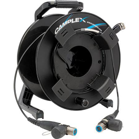 Camplex Tactical Reel opticalCON QUAD Single Mode XTREME Fiber TAC Cable - 500 Foot