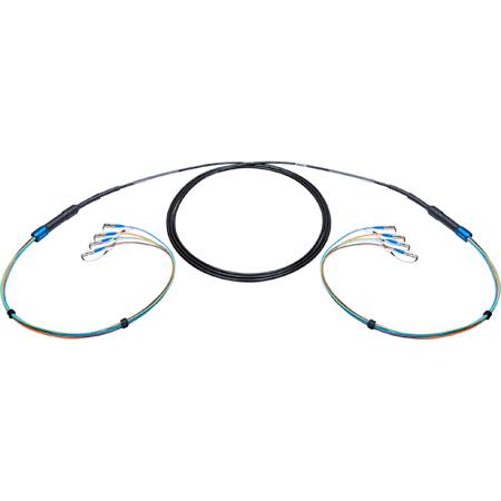 Camplex 4-Channel ST-Single Mode Tactical Fiber Optical Snake- 25 Foot