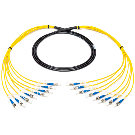 Camplex 8-Channel ST-Single Mode Tactical Fiber Optical Snake - 10 Foot