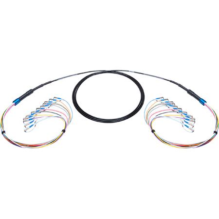 Camplex 12-Channel ST-Single Mode Tactical Fiber Optical Snake- 100 Foot