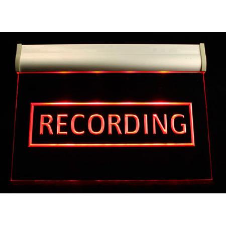 Titus HPL RECORDING Hanging Plexiglas Light fixture - 12 VDC Red LED