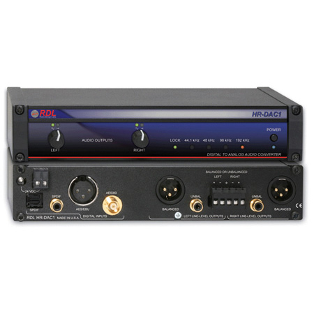 RDL HR-DAC1 Digital to Analog Converter - 24 bit 192 kHz