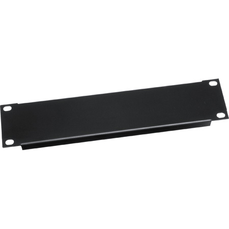 HRBL1 1 Space (1 3/4in) Half Rack Flanged Aluminum Blank Panel Black Brushed