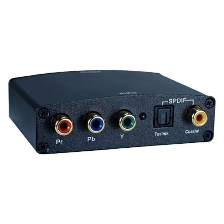 Component Video & SPDIF Toslink Audio to HDMI Digital Video Converter