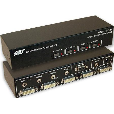 Hall Technologies DVS-4A DVI AV Switcher (4 Port)