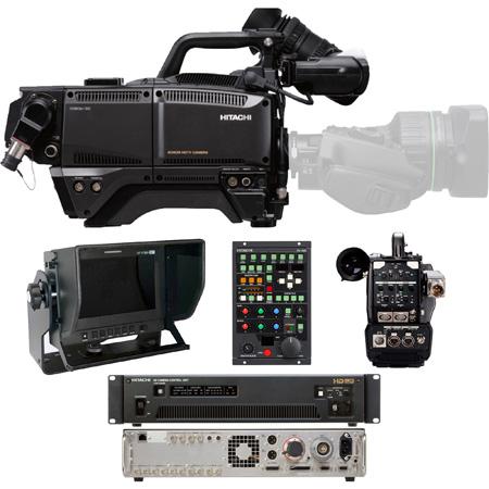 Hitachi SK-HD1800-ST1 HDTV 1080p CMOS 3Gbps Fiber Camera Package with Fiber CCU & CA-HF1200 Head Adapter - (no lens)