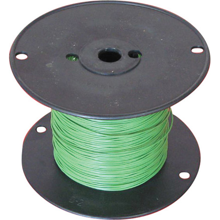 NTE Electronics 16 AWG 300V Stranded Hook-Up Wire 100 Foot Spool Green