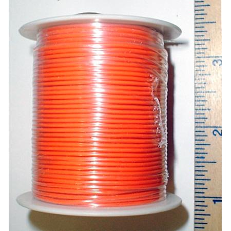 NTE Electronics 24 AWG 300V Stranded Hook-Up Wire 100 Foot Spool Orange