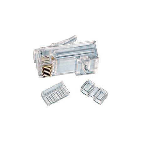Ideal 85-366 RJ45 Modular Plug 8Way 1Port  CAT6 -25pc pkg