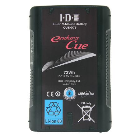 IDX CUE-D75 - 73Wh Li-ion V-Mount Battery