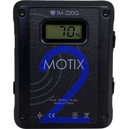 IDX IM-220G 220Wh Gold Mount Li-ion Battery with 4x D-Tap and 1x USB