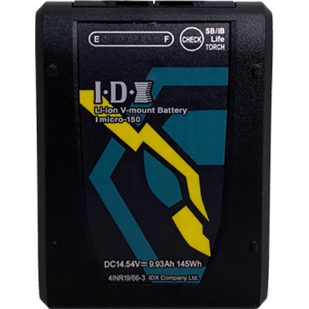 IDX Imicro-150 Micro V-Mount Battery -  145Wh Capacity - 100W D-Tap