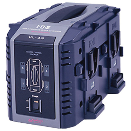 IDX VL-4S 4-CH. High Speed Simultaneous Charger For V Mount Batteries