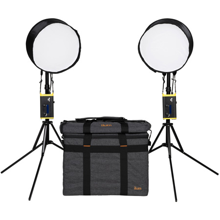 ikan CB6-2PT-KIT - Kit with 2 x Round Canvas Bendable Bi-Color LED Panel Lights