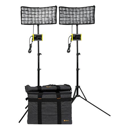 ikan CB8-2PT-KIT Light Kit with 2 x Canvas Bendable Bi-Color LED Panel Lights with Li-Ion Batteries