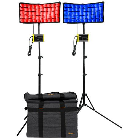 ikan CC8-2PT-KIT Canvas RGBWA Bendable 2-Point LED Light Kit with 2x CC8