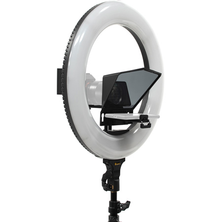 ikan HS-PROMPTER-RL Homestream Smartphone Teleprompter for DSLR & Mirrorless Cameras with 18-Inch Ring Light & Stand