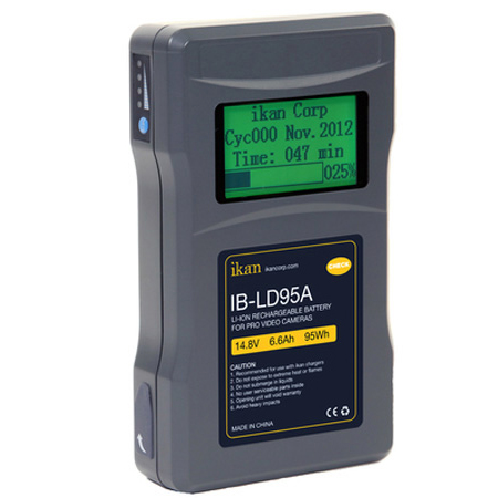 iKan IB-LD95A 95Wh Professional Li-Ion Battery with Display - AB Mount