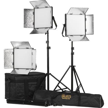 ikan LB10-3PT-KIT Kit with 3x Lyra Bi-Color 1 x 1 LED Soft Lights
