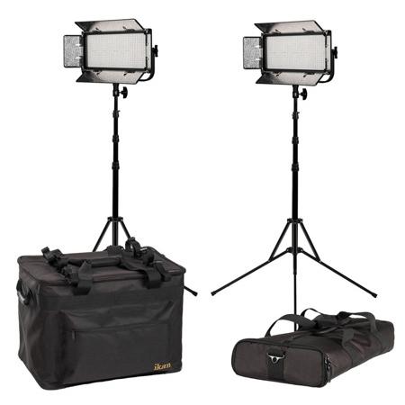 ikan MB8-2PT-KIT Kit with 2x Mylo Bi-Color Half x1 Portable Field LED Lights