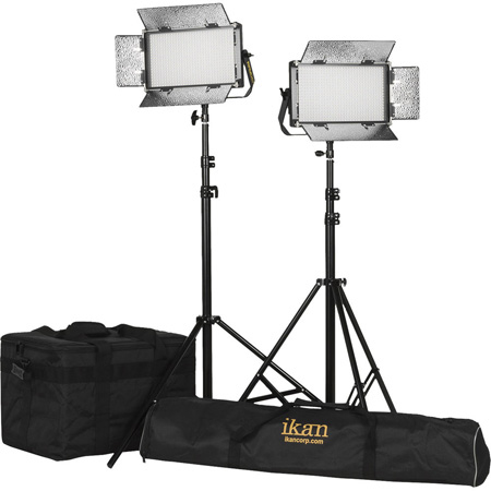ikan RB5-2PT-KIT Kit with 2x Rayden Bi-Color Half x 1 LED Lights
