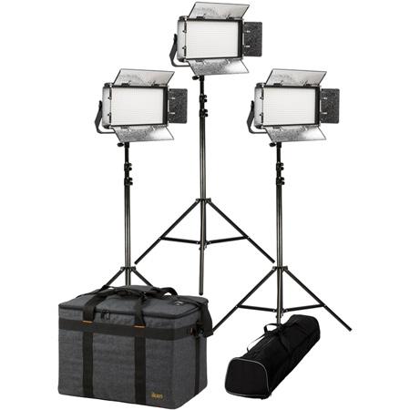 ikan RB5-3PT-KIT Light Kit with 3x Rayden Bi-Color Half x 1 LED Lights