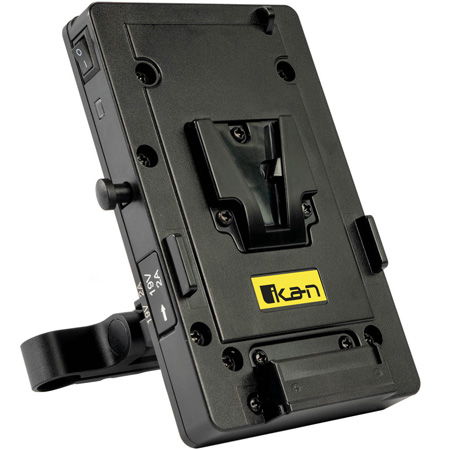 ikan STR-PWR-PLATE-BMPCC6K Stratus V-Mount Battery Plate with 15mm Rod Mount for BMPCC6K Camera