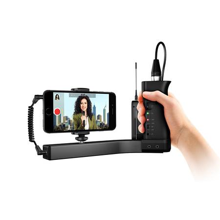 IK Multimedia iKlip Universal Microphone Stand Adaptor for Smartphones with Mic Pre Amp
