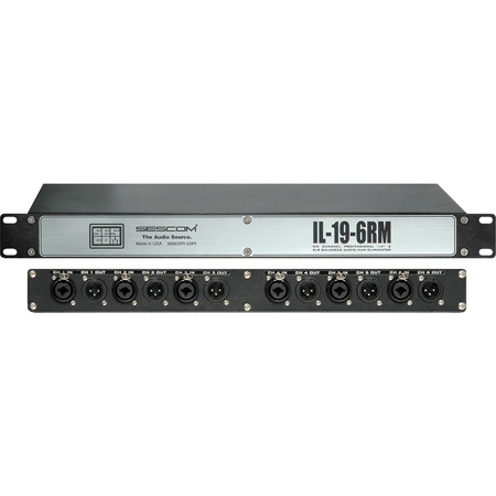 Sescom IL-19-6RM Pro Audio Hum Eliminator 6-Channel Rackmount with Isolation
