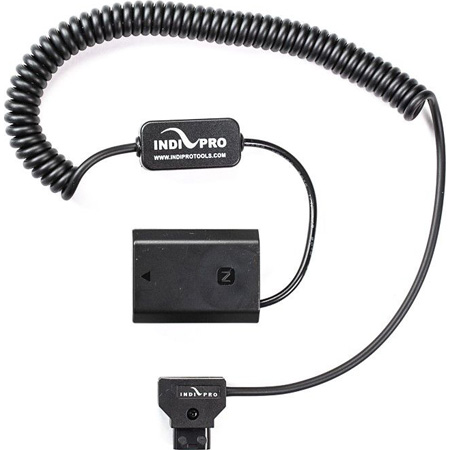 IndiPro Tools DTSA73 Coiled D-Tap to Sony a7 III (NP-FZ100) Type Dummy Battery - 24 - 36 Inch