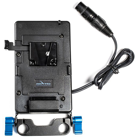 IndiPro Tools PDV4XLR V-Mount Plate to 4-Pin Neutrik XLR with 15mm Mounting Plate