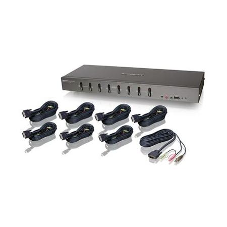 Iogear GCS1108KIT1 8-Port DVI KVMP Switch Kit