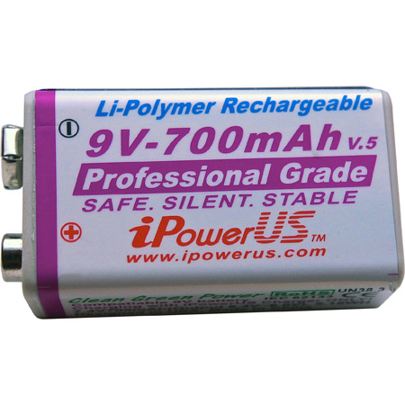 iPower Li-Polymer Rechargeable Battery - 9V 700mAh