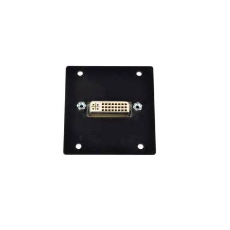 FSR IPS-V611-BLK Triple Ht. DVI-I Female Bulkhead - Black