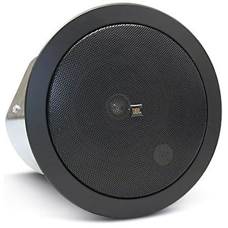 JBL C24CT-BK Medium Output Ceiling Speaker Assembly with Transformer - Black (Pair)