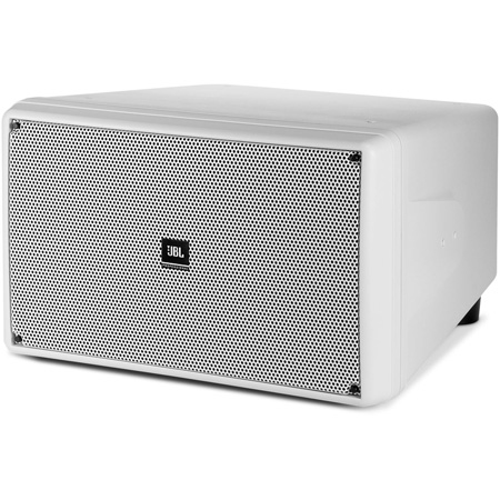 JBL Control SB2210-WH Dual 10 Inch 500W Compact Subwoofer - White