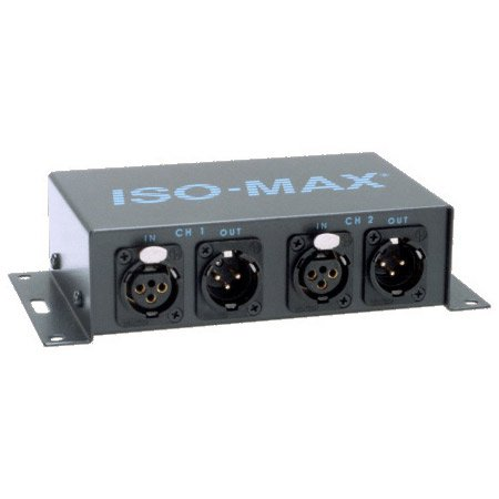 Jensen DM2-2XX Iso-Max Stereo Line Output Isolator 1 to 1 Ratio XLR IN/Out