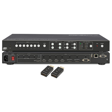 KanexPro HD-VTSC72-4K 4K Video Titler and Scaler Switcher with HDMI & Click-to-Show Me controller