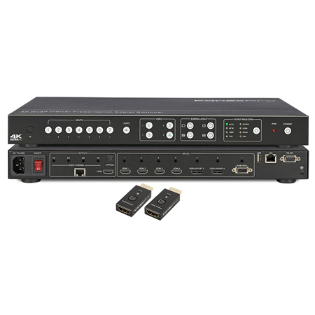 KanexPro HDBT-VTSC72-4K 4K Video Tiler and Scaler Switcher with HDBaseT