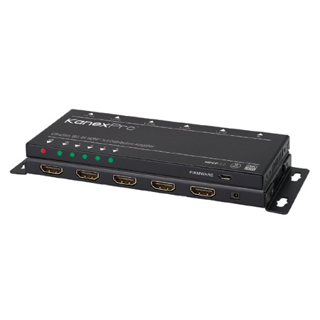 KanexPro SP-1X4SL18G UltraSlim 4K/60 1x4 HDMI Splitter with Downscaling to HD 1080p/60