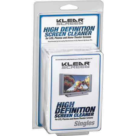 Klear Screen KS-HDS HD Singles Plasma and LCD Screen Cleaners