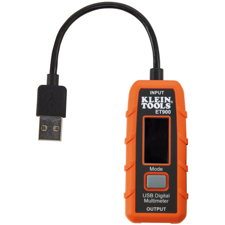 Klein Tools ET900 USB-A Digital Meter - 3 to 20V DC