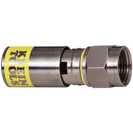 Klein Tools VDV812-612 Universal F Compression Connectors RG6/6Q - 50 Pack