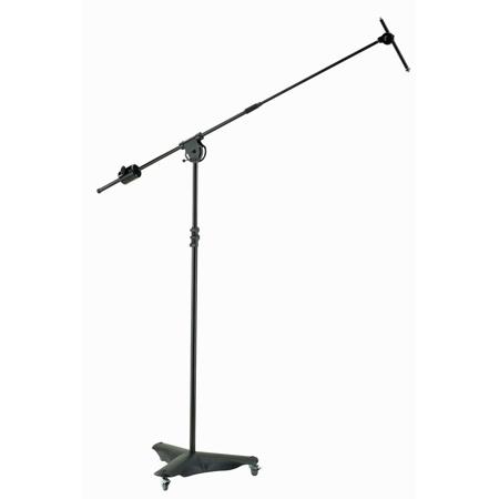 K&M 21430 Overhead Microphone Stand - Black