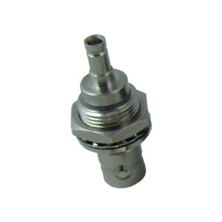 Kings 206G-034-00003N 1.0/2.3 DIN-Jack/BNC-Jack Bulkhead Adapter Isolated - Nickel