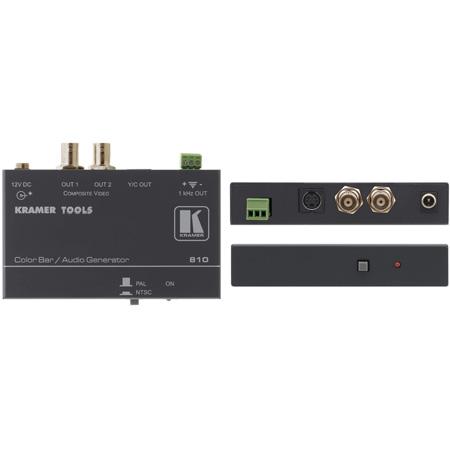 Kramer 810 Composite Video & S-Video Color Bar / Audio Tone Generator