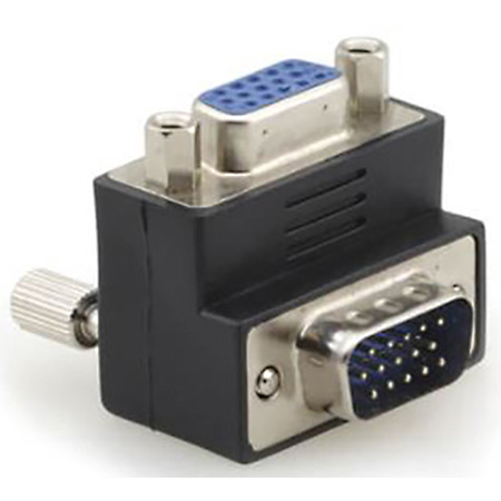 Kramer AD-GM/GF/RA 15-Pin HD (M) to 15-Pin HD (F) Right Angle Adapter